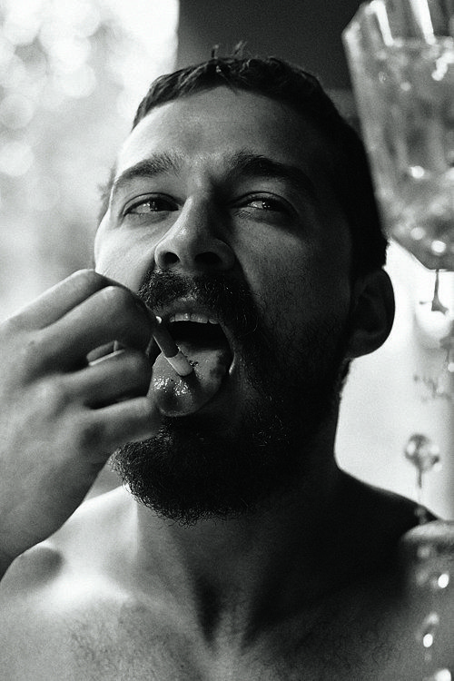 I admire this man because although he's an actor, he's just as crazy as everyone else and let's it show.  Shia LaBeouf in Interview Magazine November 2014 | POPSUGAR Celebrity