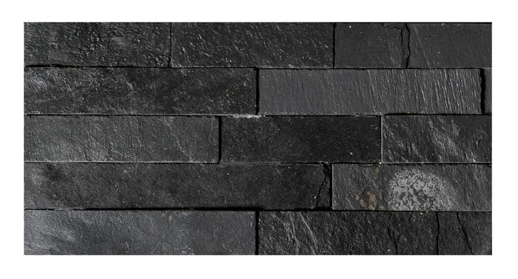 Uncalibrated Slate Linear Split Face Mosaic Topps Tiles
