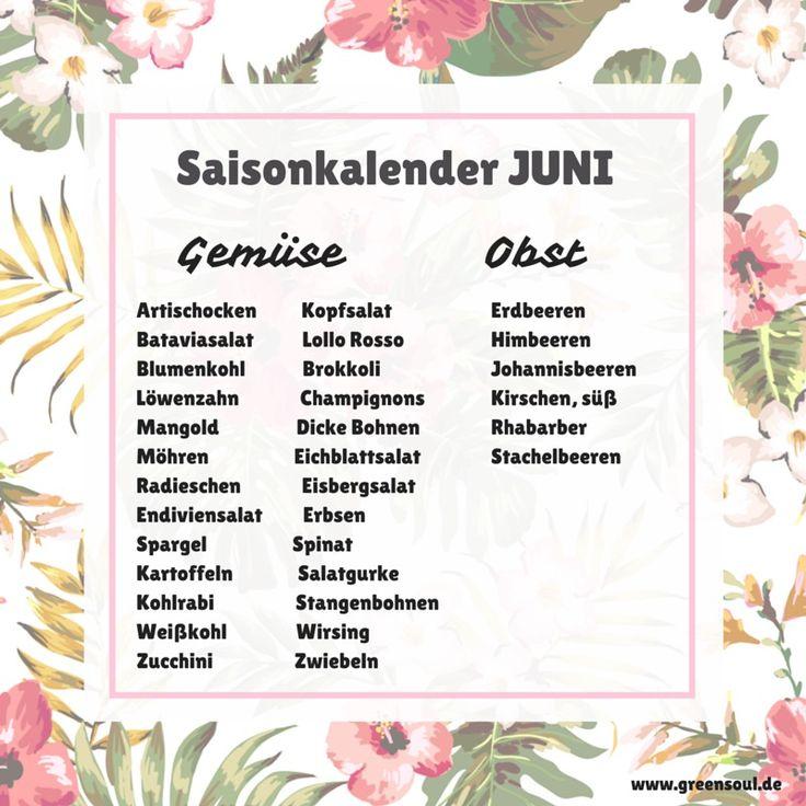 Welches heimische Obst & Gemüse hat im Juni Saison?  #juni
