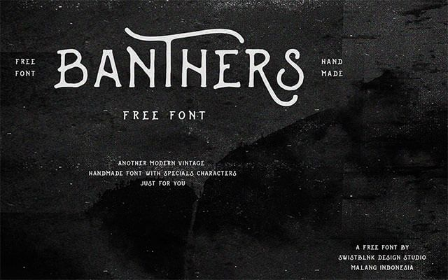 banthers-free-font