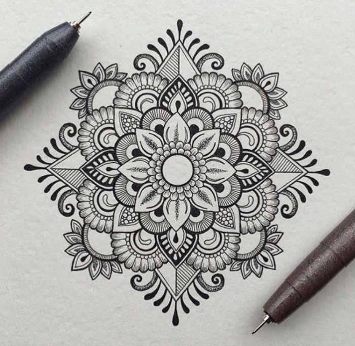 1001 Ideen Und Inspirationen Fur Schone Bilder Zum Nachmalen Mandala Selber Malen Mandalas Zeichnen Mandala Malen Anleitung