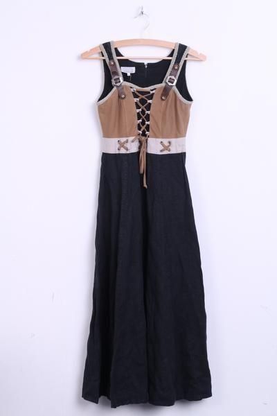 Siebenstein Trachten Austria Womens 34 XS Dress Leinen Tirol Black - RetrospectClothes