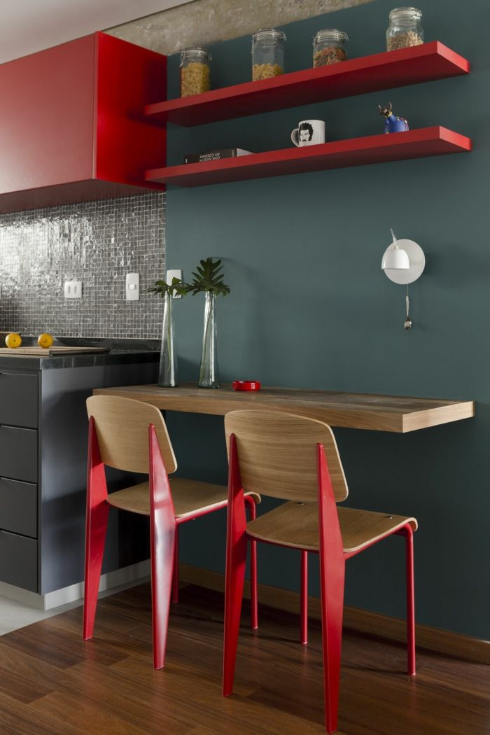1001 Ideen Zum Thema Welche Farbe Passt Zu Rot Graue Kuchenwande Farben Fur Kuchenwande Und Kuchendesign