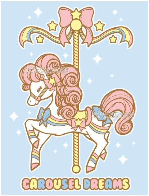 "Carousel Dreams by *MoogleGurl on deviantART - what comes to mind when I think of ""traditional"" carousel horse!"