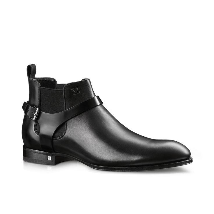 ドレスコード・ライン アンクルブーツ (ワックスド・カーフレザー) Louis Vuitton