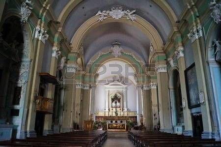 Interior of San Domenico Church, Gubbio, Umbria, Italy