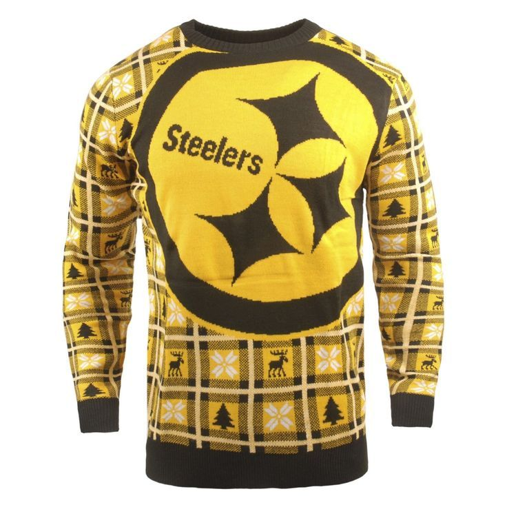 Wear This Sweater With An Exaggerated Steelers Logo