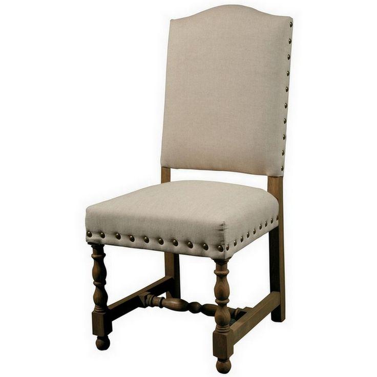 Spanish Linen Upholstered Dining Chair