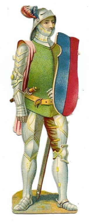 DECOUPI ANCIEN SOLDAT EN ARMURE - UNIFORME fr.picclick.com