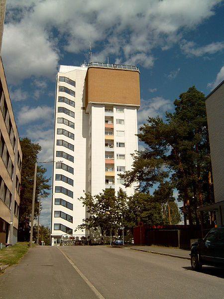 Water tower in Varkaus, Finland. Photo taken 1.11.2013 Varkauden vesitorni