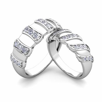 Create Unique Wedding Ring Band for Him and Her with Diamonds and Gemstones