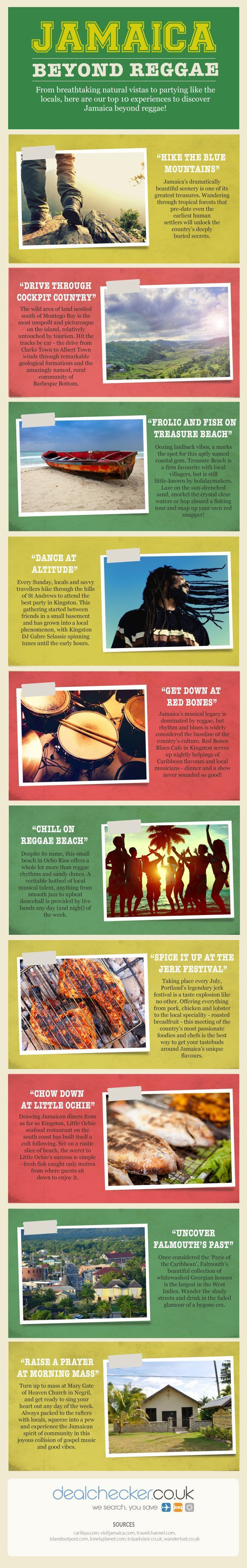 Jamaica: Beyond Reggae #infographic #Travel