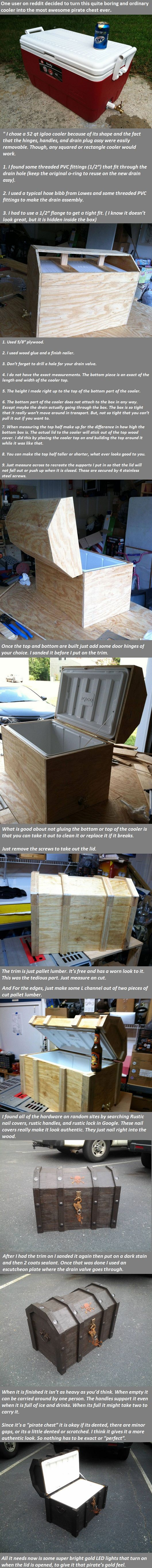 What This Guy Did With An Normal Cooler Is Epic... -   Misc