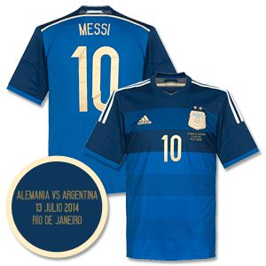 Adidas 2014 Argentina Away World Cup Finalists Messi 2014 Argentina Away World Cup Finalists Messi Shirt inc Official Commemorative Match Transfer http://www.comparestoreprices.co.uk/football-shirts/adidas-2014-argentina-away-world-cup-finalists-messi.asp