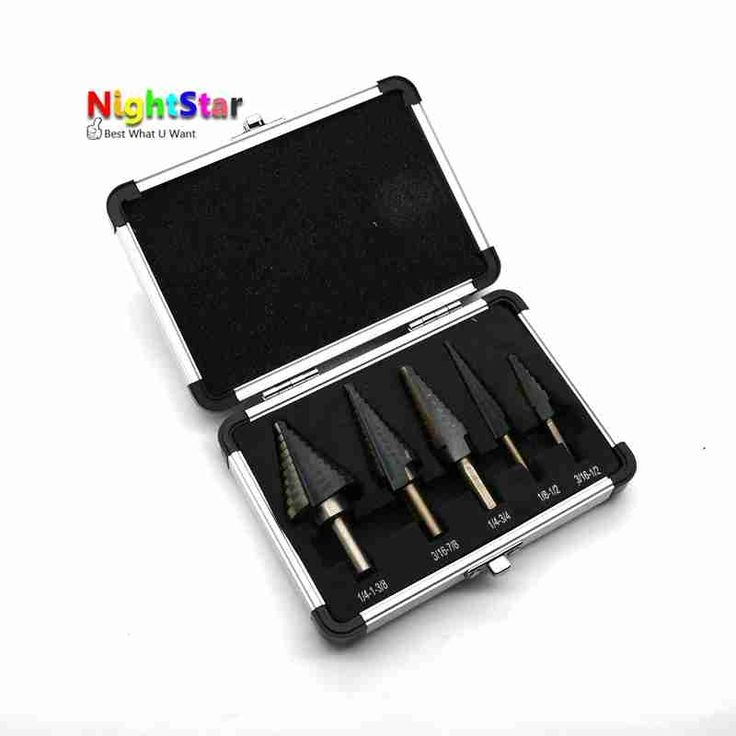 9.38$  Watch here - http://alixwy.shopchina.info/go.php?t=32663991797 - 5pcs Step Drill Bit Set Hss Cobalt Multiple Hole 50 Sizes SAE Step Drills 1/4-1-3/8 3/16-7/8 1/4-3/4 1/8-1/2 3/16-1/2 Drill Bit  #SHOPPING