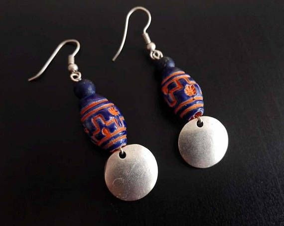Hey, I found this really awesome Etsy listing at https://www.etsy.com/listing/561373790/ethnic-earrings-peruvian-ceramic