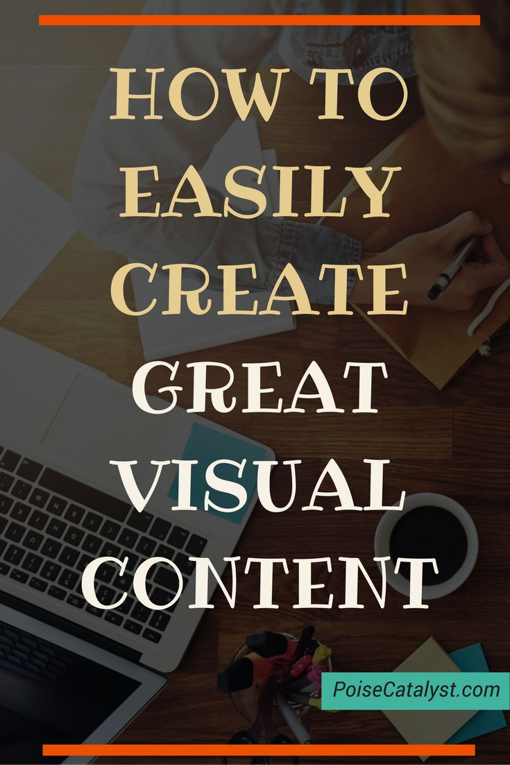 Visual content is where is engagement is at today, guys. Here's a quick video on how to easily create great visual content. Click through!