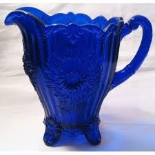 *COBALT GLASS ~ pitcher-nice link to an informative site, too.