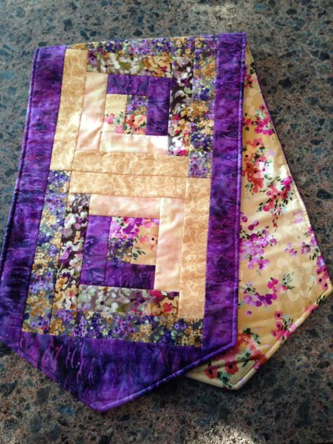 33+ Trendy Log Cabin Quilting Table Runner
