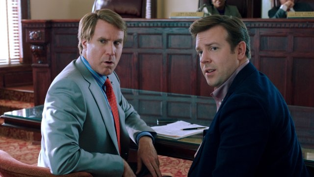 Still of Will Ferrell and Jason Sudeikis in The Campaign