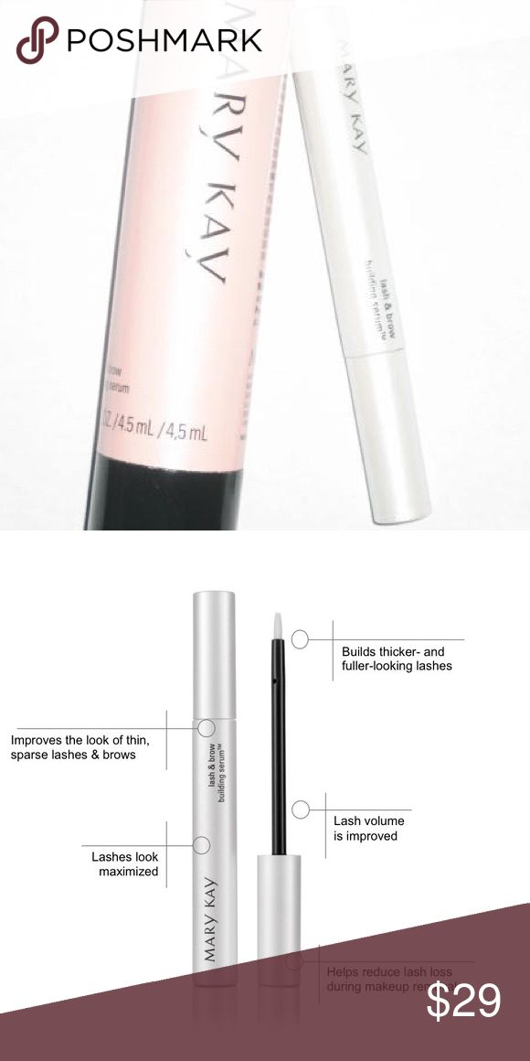 Mark Kay Lash and Brow Serum Let lashes and brows live up to their fullest potential. Only 1 left! Customers have also bought lash primer, mineral eye color, and ultimate mascara with this purchase, which I also have available! Mary Kay Makeup Eye Primer