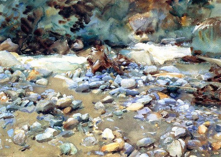 Purtud, Alpine Scene and Boulders, 1904 by John Singer Sargent. Impressionism. landscape