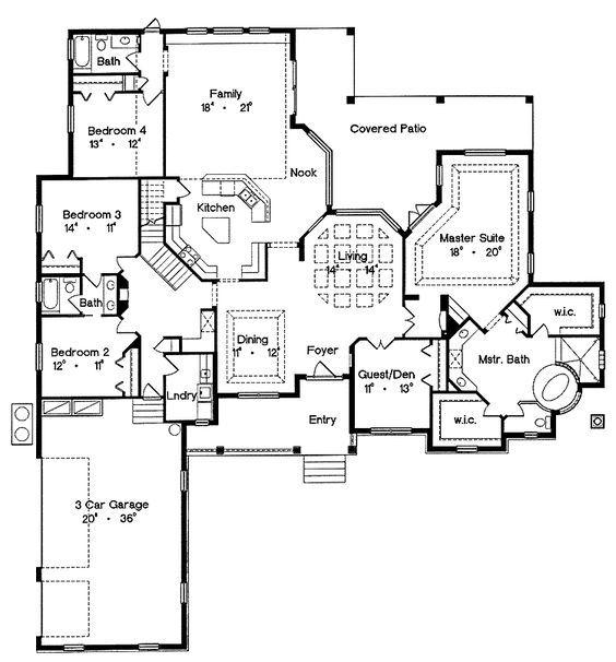 463 best carols mediterean spanish european house plans for Dream kitchen floor plans