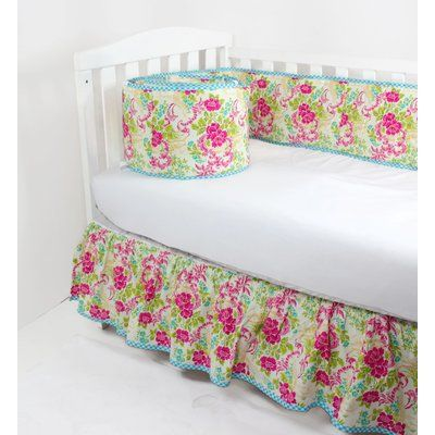 RockinghamRoad Premium Vintage Asian Floral Roses Custom Fitted Crib Sheet