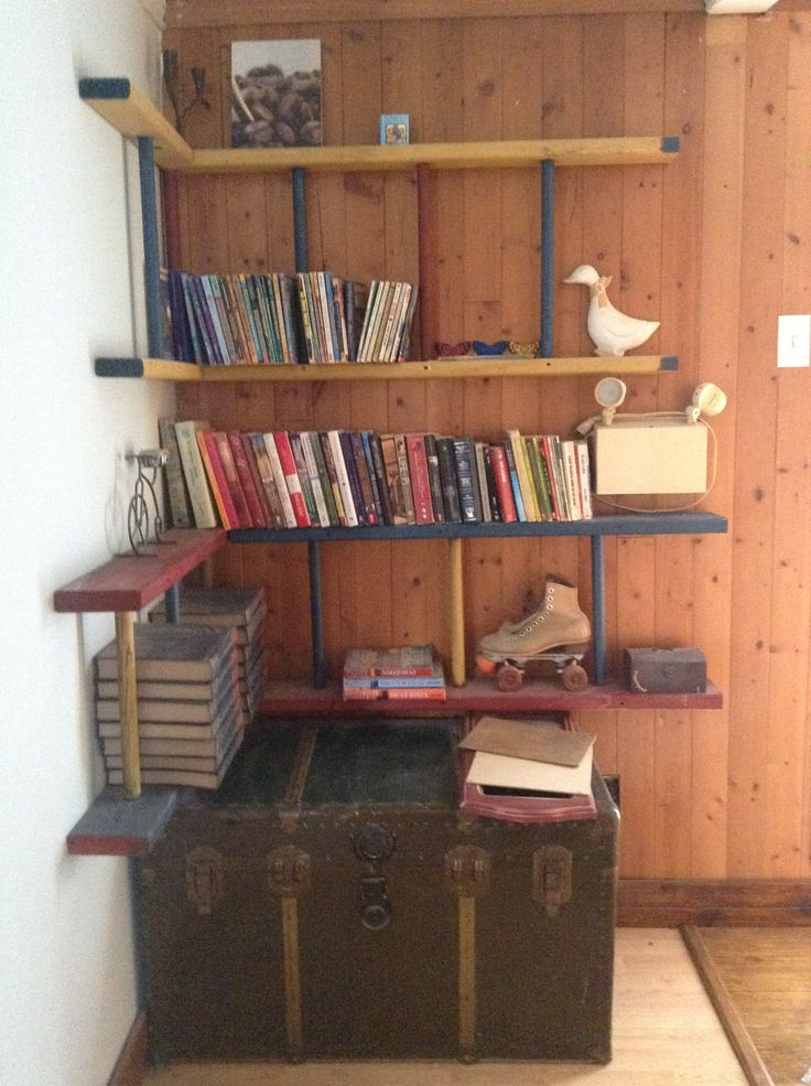 Bookcase made from old ladders!