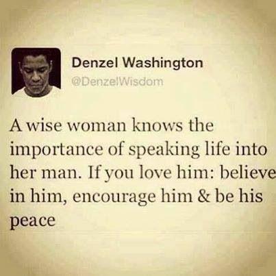 Encourage him!!