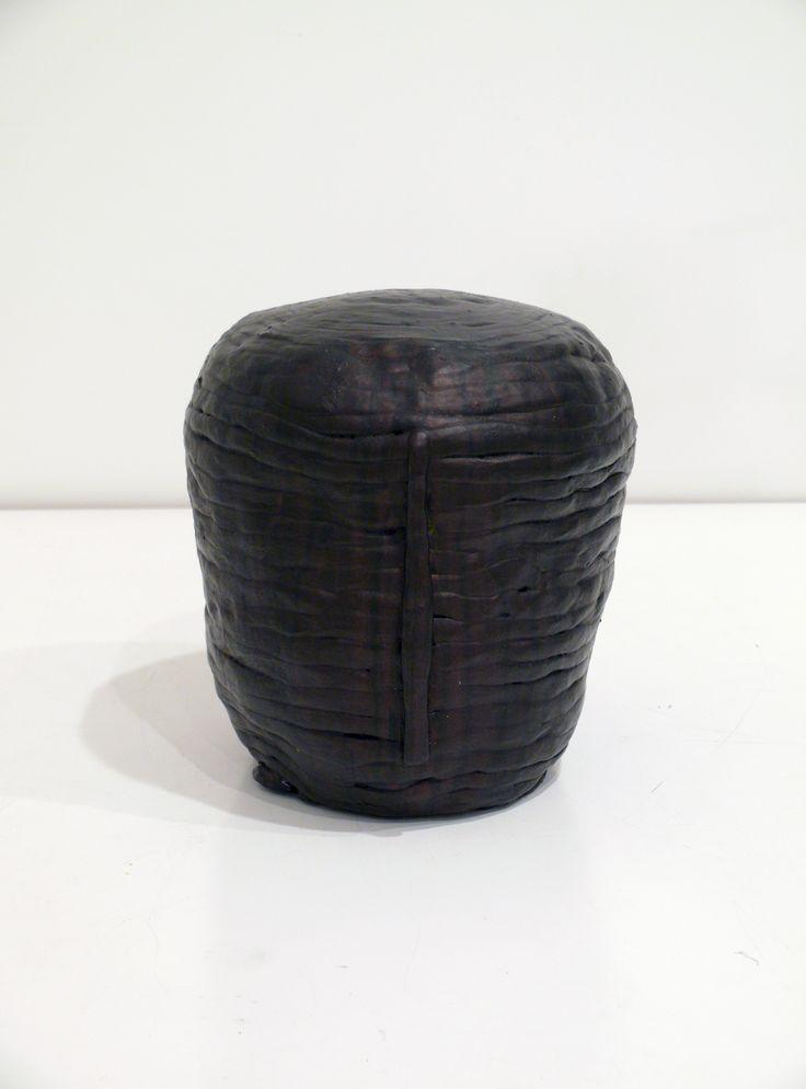 Graham Fletcher, 2014, Untitled (Head 3), ceramic and acrylic, 245 x 230 x 250mm
