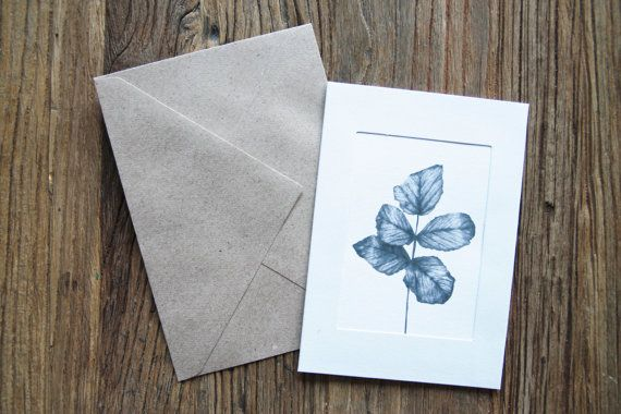 Greeting Card Leaves by annmarireigstad on Etsy