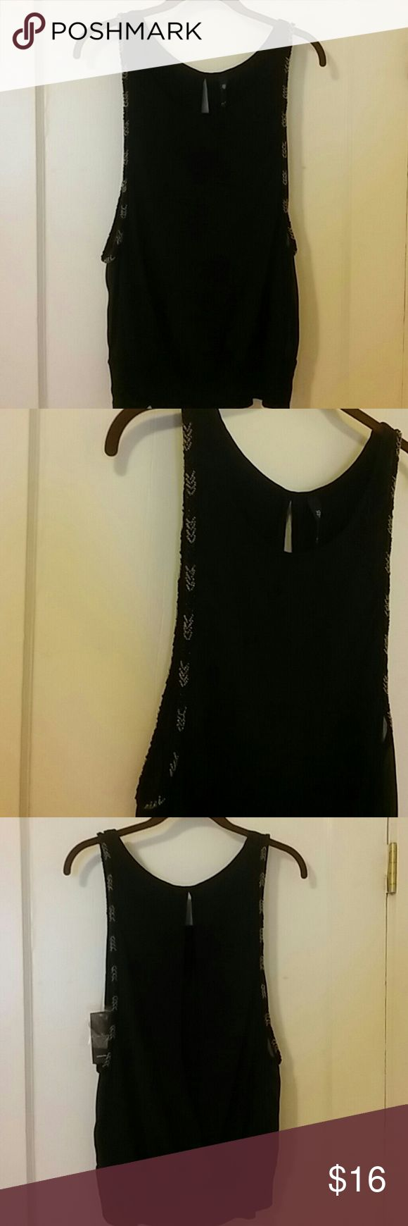 Jessica Simpson Flirty lined top with arm sleeve beading  Wide waist band Sexy back NEXT Jessica Simpson Tops Blouses