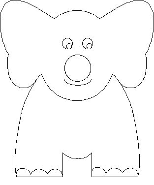 Elephant Paper Finger Puppet...put a party favor blowing thing in for craft!