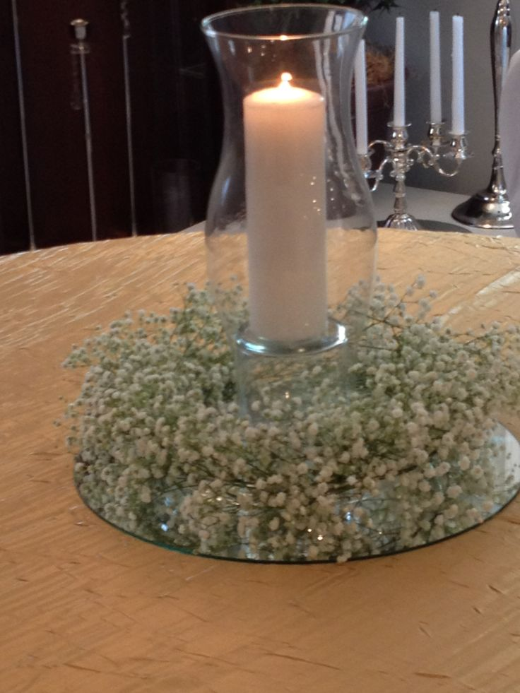 Large Vase With Candles