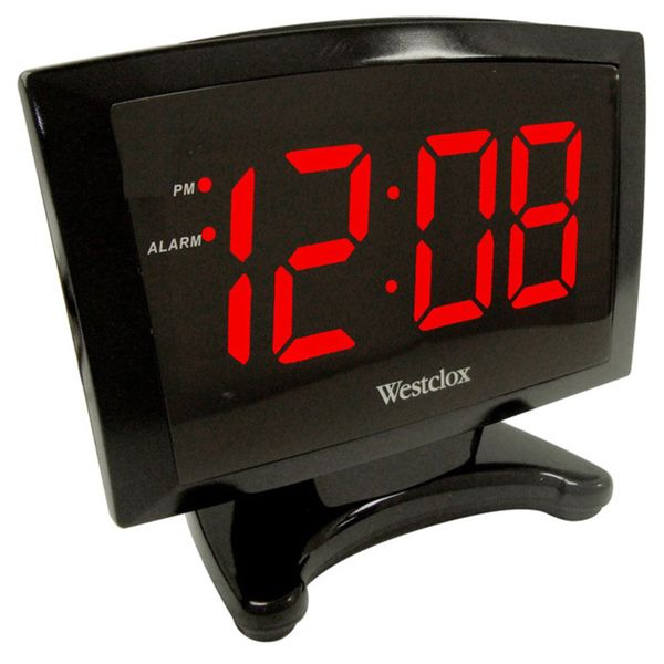 The Westclox alarm clock features large, easy to read 1.8