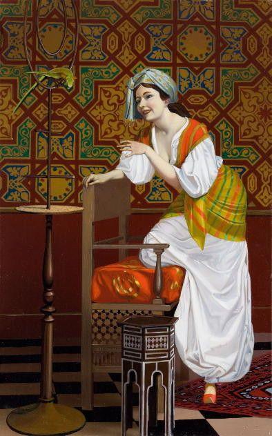 La Femme au Perroquet Création Originale signée B.Ciochetti