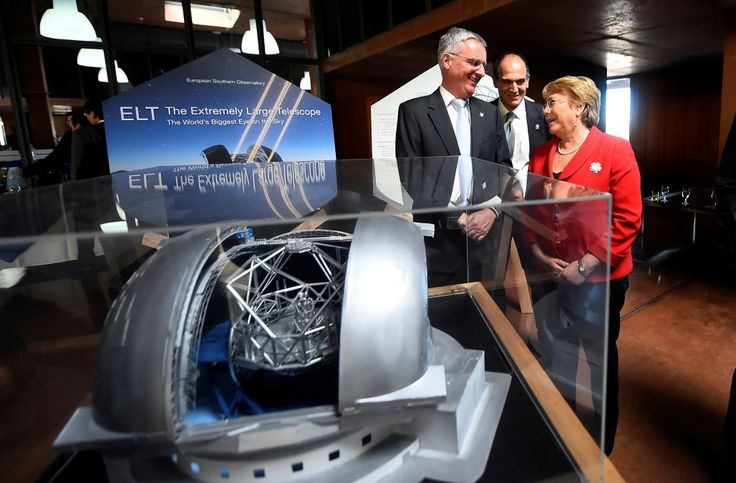 Construction begins on world's largest telescope in Chilean desert JORGE VEGA AND ROSALBA O'BRIEN May 26th 2017 9:10PM