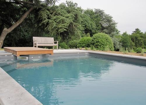 Liner de piscine gris antracite