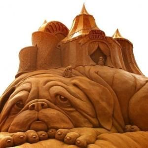 Sand sculpture by Eva