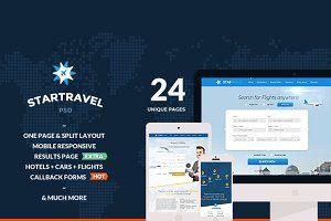 Star Journey – On-line Reserving 24 PSD by manserro on @creativemarket #webdevelopment #web site #design #websitedesign #webdesign #theme #template
