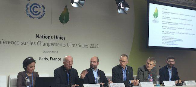 Hans Joachim Schellnhuber at COP21 Paris 2015
