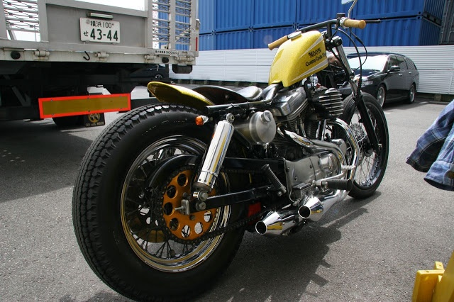 Dual Sport Motorcycles >> Yellow Evo Sportster swingarm custom with dual bowling pin exhaust | Motorcycles & Scooters ...