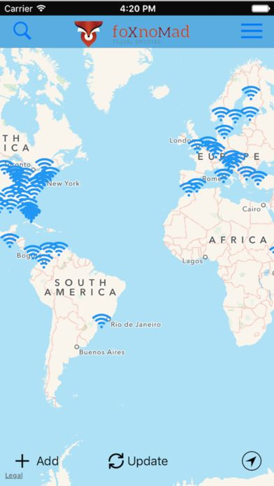 les mots de passe wifi aroports salons voyage wifox ios lounge wifi anil polat updated map continually updated