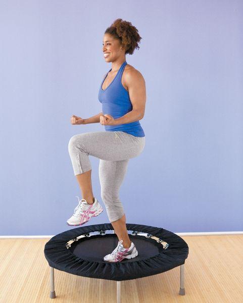 Trampoline Workout Legs