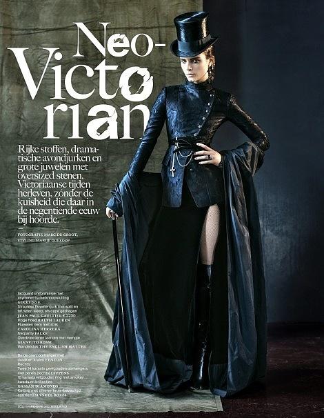Anna de Rijk Dresses for Halloween in Vogue Netherlands' November Issue
