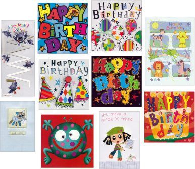 A lovely pack of cute greetings cards for children. Be prepared for all the party invites :)