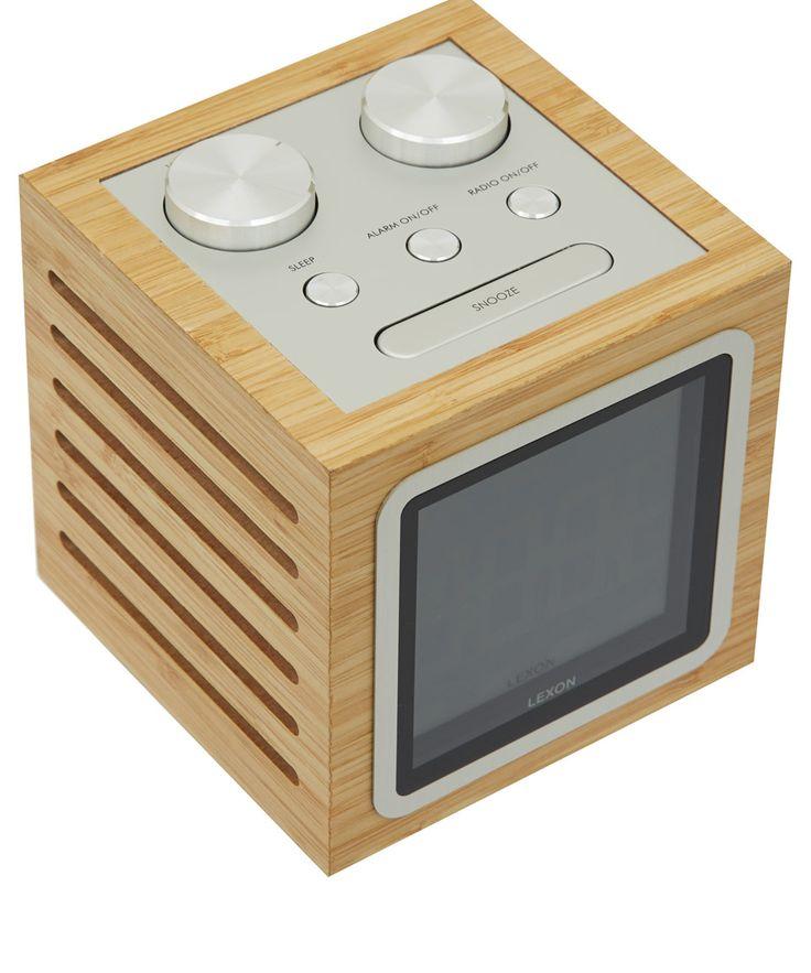 Lexon Natural Bamboo Dolmen Radio Clock | Home | Liberty.co.uk