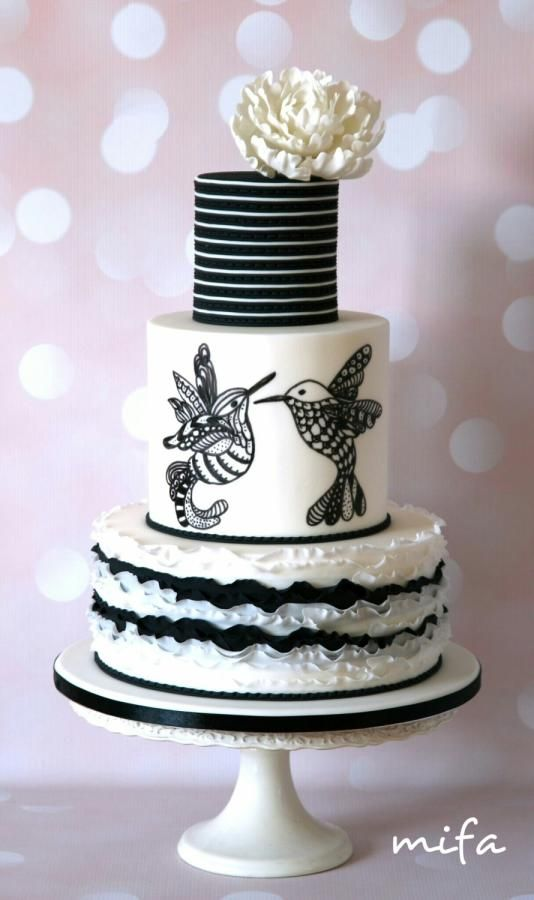 Black White Cake By Michaela Fajmanova