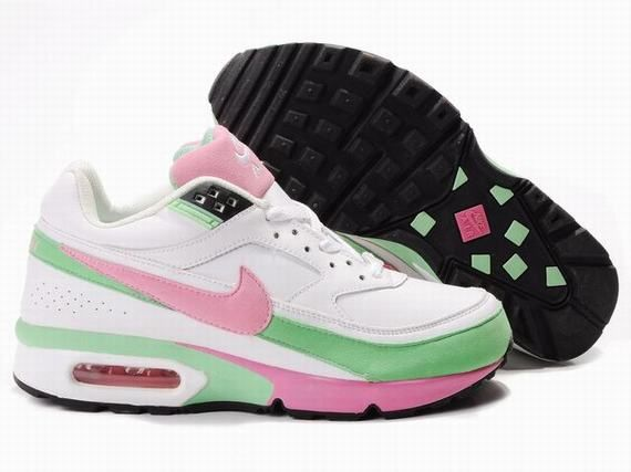 Chaussures Nike Air Classic BW Rose/ Vert/ Blanc/ Noir - : Nike Chaussure  Pas Cher,Nike Blazer and Timerland